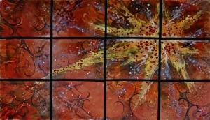 """Sunstar, in Twelve Panels,  34"""" x 54"""""""