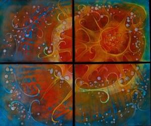 """Sunshine Quartet, 21"""" x 25"""""""