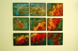 "Swan Nebula in Nine Panels, 34"" x 40"""