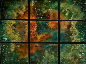 "orion's rose in 9 Panels, 34"" x 40"""