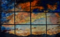 "Sunset in 12 panels, 44"" x 66"""