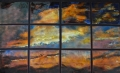 "Sunset in Twelve Panels, 44"" x 66"""