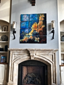 Above the fireplace, Madison,  WI. .56' x 60%22