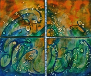 Dancing Waves Quartet, 22_ x 26_