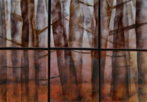 Misty Forest Sextet, 26_ x 34_