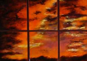 Sunset Pond Sextet, 26_ x 34_