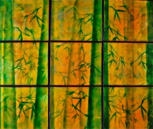 Bamboo in Nine Panels, 34_ x 40_