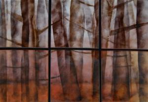 Misty Forest Sextet, 26_ x 34_