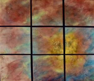 Rain in Nine Panels, 34_ x 40_