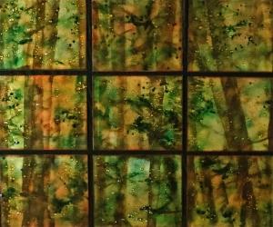 Woodland Fireflies, 34_ x 40_