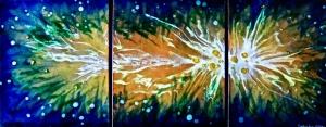 "Blue Nebula, 12"" x 36"""