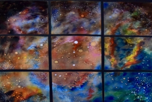 "Early Spring Nebula, 44"" x 50"""