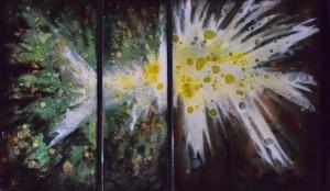 "Spring Nebula Trio, 12""x 25"""