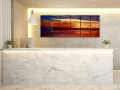 "18 Panel Sunset, 44""x 98"", Commission awarded by Lori Carroll & Assoc, Tucson, AZ"
