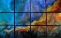 Swan Nebula in 12 Panels