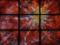 Firey Nebula in Nine Panels